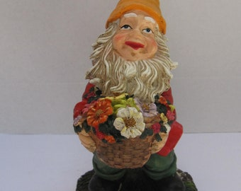 Garden Gnome with Basqet of Flowers