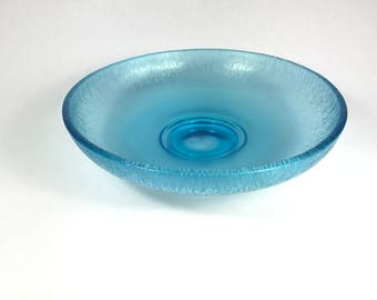 Fenton Celeste Blue Stretch Glass Bowl