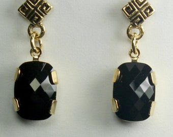 Swarovski Black Drop Earrings, Formal Earrings, Gifts for Her