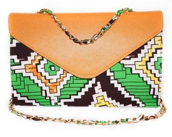 Aztec Print Baguette Bag