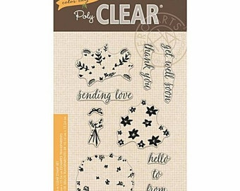 Hero Arts PolyClear Crafting Stamp Set ~Color Layering Bouquet ~