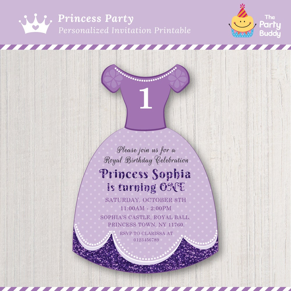 Princess Sofia Party Invitation DIY Digital Printable