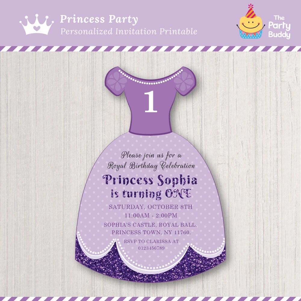 Princess Sofia Party Invitation DIY Digital Printable