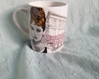 Retro Breakfast at Tiffany's Audrey Hepburn coffee mug