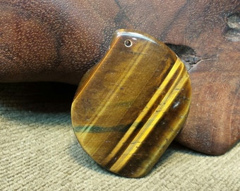 Sale #EarthDay ~ Natural Tiger Eye Interesting Flag Wave Shape