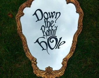 Down the Rabbit Hole Disney Party Decoration, Decal, Alice in Wonderland Party, Wall Decal