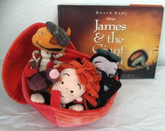 Disney's James & the Giant Peach, Book and 4 characters