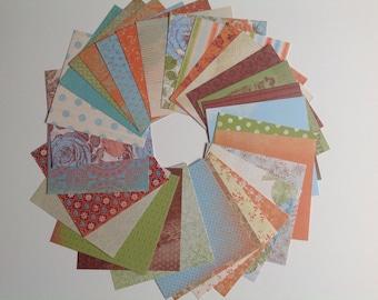 6 x 6 scrapbook paper pack, Destash scrapbook paper, 29 assorted papers, scrapbook paper,  variety pack, mixed paper pack, value pack