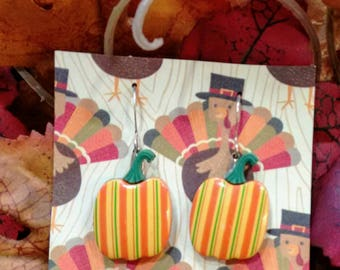 Thanksgiving earrings pumpkin earrings fall earrings thanksgiving jewelry Thanksgiving accessories gifts for her gifts under 10 teacher gift