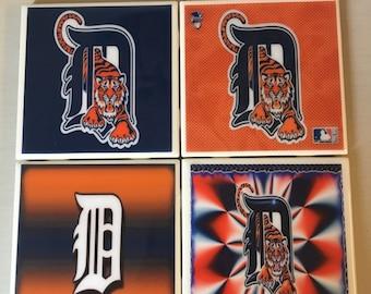 Detroit Tigers coaster set