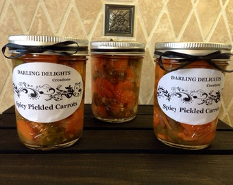 Addictive Spicy Pickled Carrots