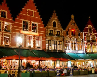 Brugge Belgium - Europe - Architecture - Building - Cafe - Travel - Brugge At Night