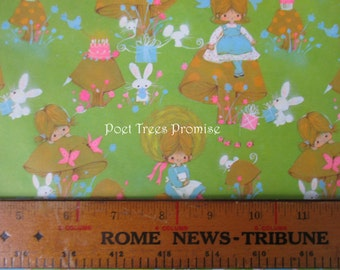 """Little Ms. Muffet Retro Gift Wrapping Paper - One Sheet 20.25"""" by 28.5""""  - 1970s"""