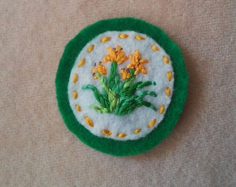 Day Lilies Patch (or Pin, Brooch, Magnet)