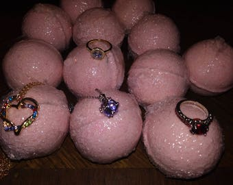 Sale! J'Adore scented Shimmer Bath bomb with  jewelry hidden inside