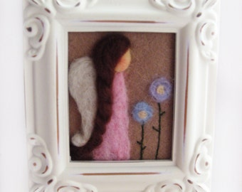 Spring Angel - Spring Decor - Pastel Colors - Spring Flowers - Pink Angel
