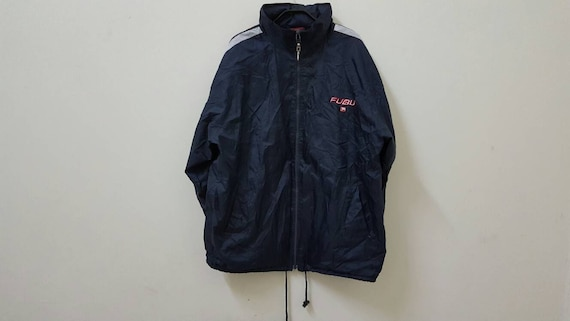 Sale Vintage FUBU Embroided Logo Windbreaker Jacket Hip Hop Fashion 06nqGSM0PJ