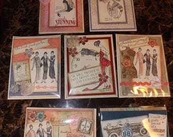 Downton Abbey Style- Card Set of 7