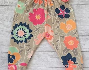Baby leggings, baby girl leggings, floral leggings, floral baby leggings, newborn girl leggings, leggings, floral print, print leggings
