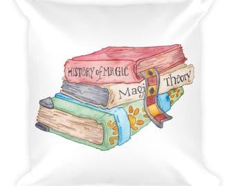Magic Books Square Pillow