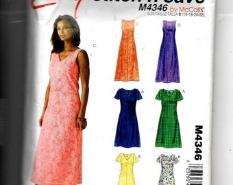 McCall's Misses'/Miss Petite Dress In Two Lengths Pattern 4346