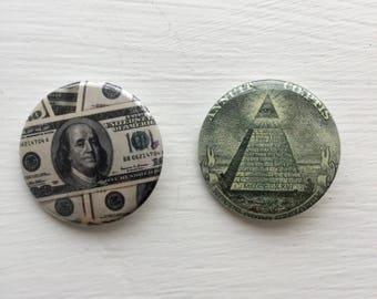 """1.5"""" Illuminati or Money Button"""