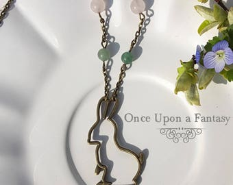 Spring little rabbit necklace - Once Upon a Fantasy