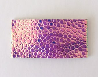Color changing mermaid tail faux leather snap clip