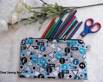 Pencil case, Small Zipper Pouch, Organizer for school