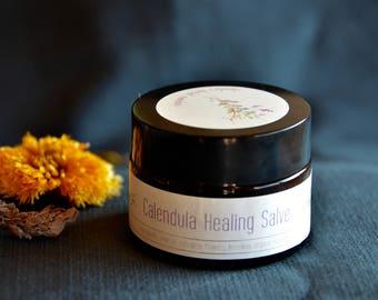 Calendula Healing Salve, All-Purpose Skin Salve, Natural Herbal Salve, heals and soothes bites, burns, skin rash, cuts & more Made with love