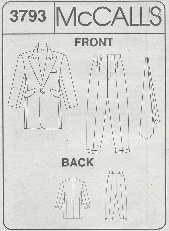 Zoot Suit Sewing Pattern Image collections - origami instructions ...