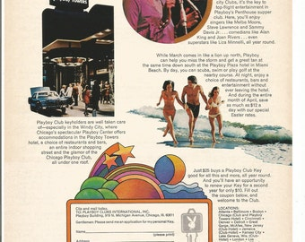 1973 Advertisement Playboy Club Hotels featuring Melba Moore Illlustrated Celebrity Travel 70s Entertainment Wall Art Decor