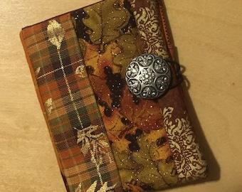 Fabric Four Pocket Tea Wallet - Fall Themed