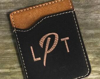 Leather Phone Card Holder