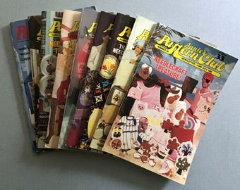 Lot of 9 Vintage Annie's Pattern Club Magazines 1982-1988