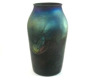 Raku Pottery Jar - Raku Pottery Vase - Art Pottery - Rustic Jar - Rustic Vase