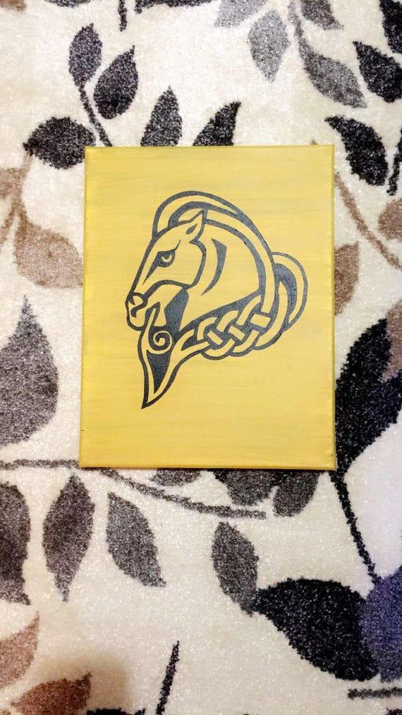 Whiterun Skyrim City Crest Handpainted Framed Canvas