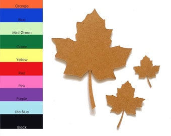25 pack - Paper Leaf, Autumn Paper Leaf, Leaf Shapes, Fall Leaves