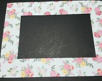 Vintage Roses Refrigerator Photo Frame Magnet. Fits a 4x6 Picture. Refrigerator Picture Frame Magnet.