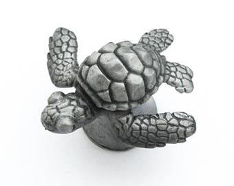 Sea Turtle Drawer Pull - Loggerhead Sea Turtle cabinet knob