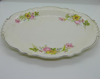 Homer Laughlin. Virginia Rose. Oval Platter.
