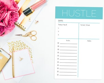 Hustle Day Planner Notepad