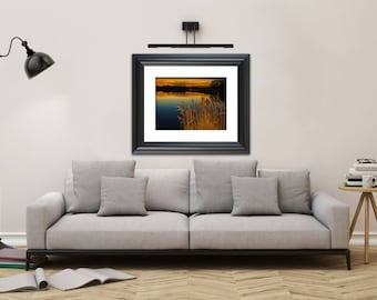 Nature Landscape Photography - Sunset at Reedy Point Pond - Fine Art Canvas - Home Decor Unframed Wall Art Prints