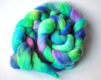 Hand Dyed Superwash Merino Spinning Roving