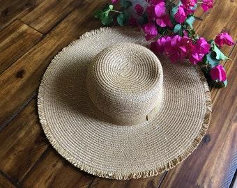Floppy hat, Beach hat, glittery floppy hat