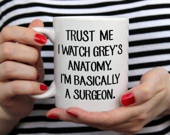 Trust Me, Grey's Anatomy Mug, Motivation Doctors, Nurses, Hospital, TV Show Mug, You are my Person, Funny Mug, Love, Grey's Anatomy Inspired