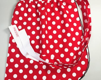 Half Apron - Vintage Pin Up Skirt Style - Minnie Mouse Style