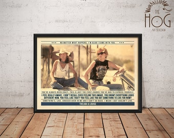 Thelma & Louise Poster - Quote Retro Movie Poster - Movie Print, Film Poster, Wall Art