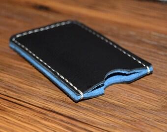 iPod Nano 7th Generation Leather Case, Black Leather, Suede Lining, iPod Nano Sleeve, iPod Nano Case, Leather iPod Nano Case, iPod 7th Gen