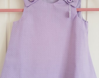 Lilac Spot Girls Pinafore Dress Age 6 months